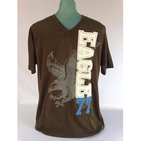 American Eagle Camiseta Masculina Cor Verde G 100% Cotton