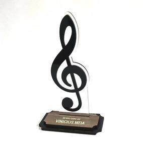 Troféu De Música Clave De Sol - Troféus Personalizados