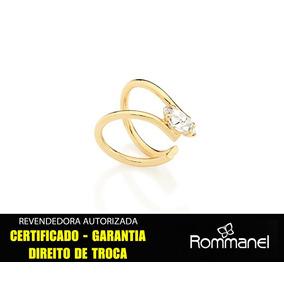 Brinco Rommanel Ear Cuff Meia Argola Ouro Folheado 525150