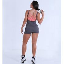Vestido Fitness Suplex Poliamida Malha Qualidade Academia