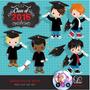 Kit Imprimible Graduacion Toga Birrete Nene Pack Clipart Png