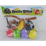Brinquedos Angry Birds Pacote Com 6 Miniaturas + Estilingue