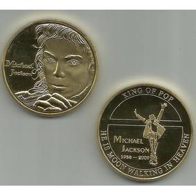 11740 - Michael Jackson - Mod. 1 - Banhada A Ouro Nos 2 Lado