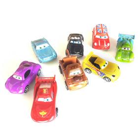 Pack De 8 Autos D Cars  A Fricción Rayo Mcquen 8cm Art Nuevo