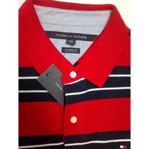 Camisa Polo Tommy Hilfiger Original Tamanho Gg Cor Azul Escu