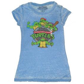 Remeras Tortugas Ninja Mujer Talles M Y L Importadas Nuevas!