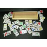 Domino Fracciones 28 Piezas Madera Material Didáctico