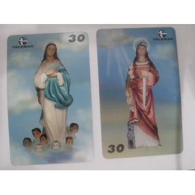 2 Cartões - Dia De Nª Sra Da Conceição E Dia De Sta Bárbara