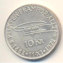 194-moeda De Prata Da Suécia - 10 Kronor-1972.