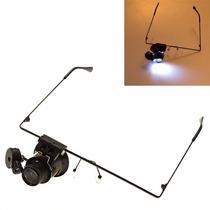 Oculos Lupa E Led Precisão Relojoeiro Eletronicos Modelismo