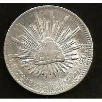 8 Reales Mexico Zacatecas 1835 5/5 Resplandores En Aguila