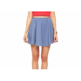 Falda Azul Mezclilla Semicircular Mediana Envio Gratis