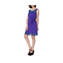 Vestido Azul Mariana Marquez Bugsy Talle M Excelente Estado
