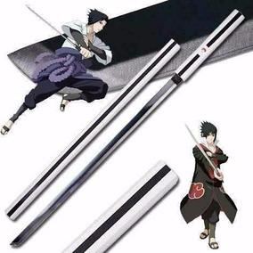 Espada Katana Sasuke Anime Naruto Cosplay Aço Bainha Madeira