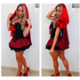 Fantasia Feminina Chapeuzinho Vermelho Luxo - Pronta Entrega