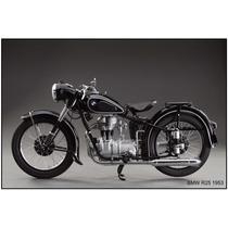 Lienzo Tela Poster Motocicleta Bmw R25 1953 50 X 75 Cm