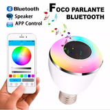Foco Parlante Bluetooth Luz Led Android Iphone