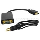 Cable Adaptador Conversor Hdmi A Vga Y Audio Ev9286