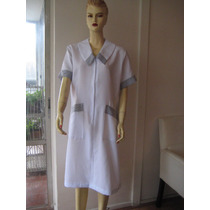 Delantal/uniforme, Blanco Talla L,
