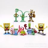 Pacote C/ 8 Miniaturas Da Turma Do Bob Esponja - Disponível