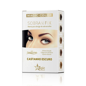 Kit 05 Magic Color Sobran Fix Henna P/ Sobrancelha