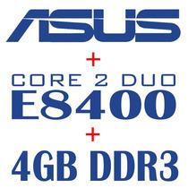 Super Kit Asus Ddr3 + Core 2 Duo 1333mhz E8400 + 4gb + Fan