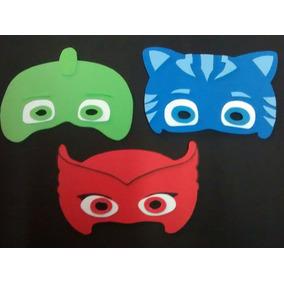 Antifaces De Pj Masks De Heroes En Pijamas