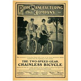 Lienzo Tela Bicicleta Antigua Pope Bicycle 1904 73 X 50 Cm