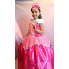 Vestido Disfraz Aurora Bella Durmiente Princesas Disney Elsa