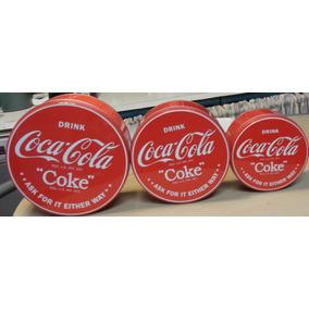 Latas Redonda Coca Cola Importada Original X 3