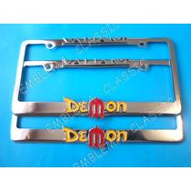 Porta Placas Valiant Demon Duster Plymouth Dodge Emblemas
