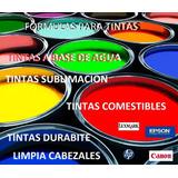 Formulas Elabore Tinta Para Impresoras Comestible 4 Nuevas