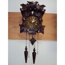 Relógio De Parede Cuco Novo Madeira 1 Ano Garantia 5388