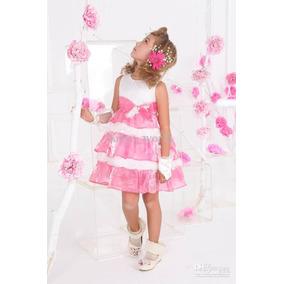 Vestido Daminha Princesa Batizado Festa Realeza Aniversario