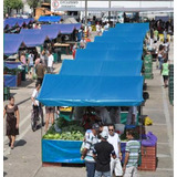 Lona Barraca De Feira Azul Ck 300 Micras Impermeável 6x3 M
