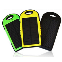 Cargador Solar Power Bank 5000 Mah Bateria Recargable Led
