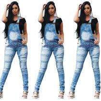 Macacão Jeans Feminino Direto Da Fábrica Do 36 Ao 46!