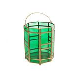 Lanterna Decorativa Tube Verde Em Vidro - S/juros S/frete