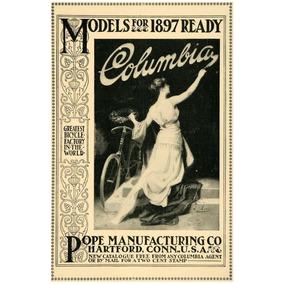 Lienzo Tela Bicicleta Antigua Pope Columbia 1897 50 X 75 Cm