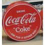 Lata Redonda Coca Cola Importada Original 20 Centimetros