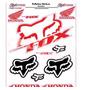 Adesivo Refletivo Moto Capacete Carro Honda Fox Frete Grátis