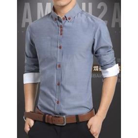 Camisa Social Masculina Slim Fit Lançamento Top De Linha
