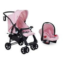 Carrinho P/ Meninas+ Bebê Conforto Burigotto Netuno At6 Rosa