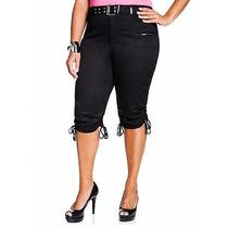 Pantalon Capri Tipo Cargo Talla Extra O Plus