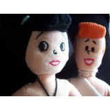 Muñecas Blandas Peluche Betty Y Vilma Picapiedras X2