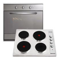 Combo Cocina Anafe + Horno Domec Electrico Acero Beiro Hogar