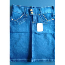 Promoção Saia Jeans Moda Evangélica C/strass P-36,m-38,g-40