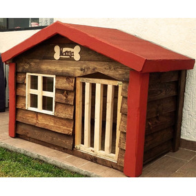 Casa De Madera Para Perro Grande Impermeabilizante Asfáltico