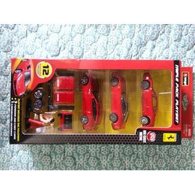 Ferrari Race & Play Triple Pack Marca Burago( Tienda Fisica)