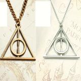 Colar Harry Potter Relíquias Da Morte Em Aço Centro Fixo